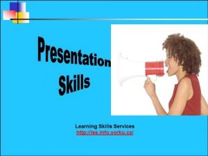 Presentation Skills Blue Title 2013.14