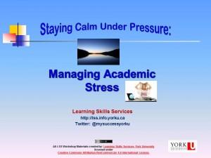 Managing Ac Stress 2015-16